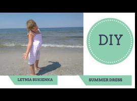 Jak uszyć prostą sukienkę na lato z wiązanymi ramiączkami