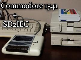 Jak podłączyć dwie stacje Commodore 1441 i SD2IEC