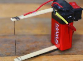 Jak zrobić urządzenie do cięcia styropianu z jednej baterii