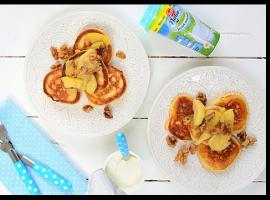 Jak zrobić placuszki na jogurcie z jabłkami i orzechami