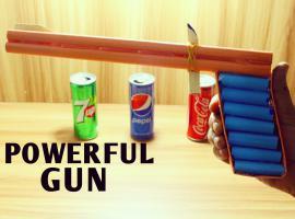 Jak zrobić pistolet z papierowych rurek na gumki recepturki