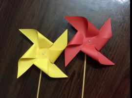 Jak zrobić papierowy wiatraczek na kijku
