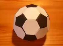 Jak zrobić piłkę do nogi - origami