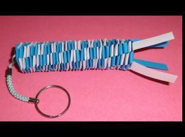 Jak zrobić papierowy brelok do klucza na bazie koła