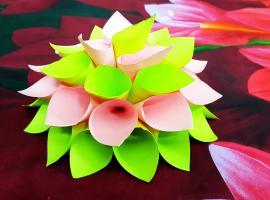 Jak robić papierowe dekoracje - modułowy kwiat