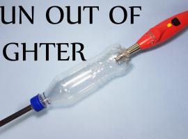 Jak zbudować prosty pistolet z butelki i zapalniczki