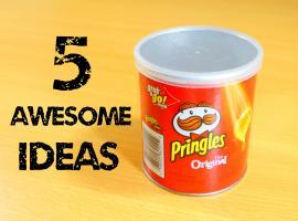 Jak wykorzystać tuby po chipsach na 5 sposobów