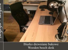Jak zrobić biurko drewniane bukowe - Meble Twojego Pomysłu