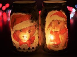 Jak zrobić świąteczne lampiony ze słoików
