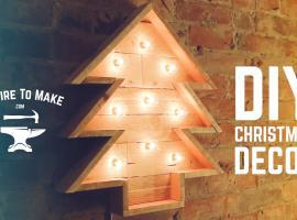 Jak zrobić podświetlaną choinkę z drewna