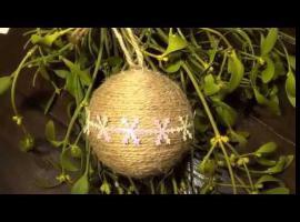 Jak ozdobić styropianową bombkę - sznurek