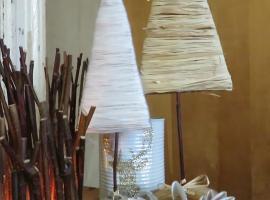 Jak zrobić choinkę na biurko - drzewko na patyku
