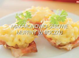 Jak upiec owinięte boczkiem muffiny z serem i makaronem