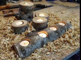 Jak zrobić świecznik z brzozy