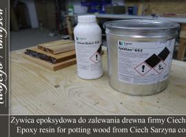 Jak wybrać żywicę epoksydową do zalewania drewna - Meble Twojego Pomysłu