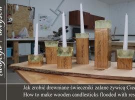 Jak zrobić drewniane świeczniki zalane żywicą Ciech - Meble Twojego Pomysłu