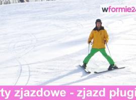 Jak śmigać na nartach zjazdowych - zjazd pługiem