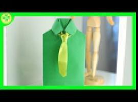 Jak zapakować prezent - pudełko w kształcie koszuli