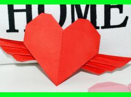 Jak zrobić coś z papieru - serce ze skrzydełkami