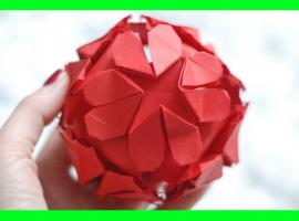 Jak zrobić kulę origami z motywem serca