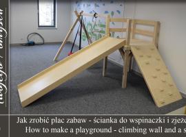 Jak zrobić plac zabaw #2 - Ścianka do wspinaczki i zjeżdżalnia - Meble Twojego Pomysłu