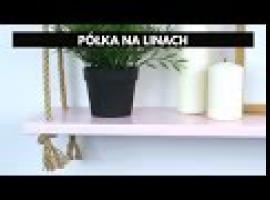 Jak zrobić półkę na linach - styl skandynawski