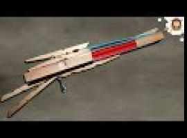 Jak zrobić pistolet na gumki - trzy strzałowy