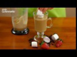 Jak zrobić coś pysznego - mrożona kawa z płonącymi piankami