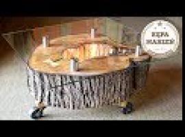 Jak zrobić genialny stolik kawowy z kawałka pnia