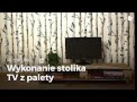 Jak zrobić stolik pod telewizor z drewnianej palety