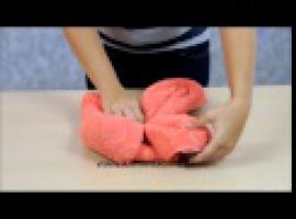 Jak złożyć ręcznik - ozdobny kwiat