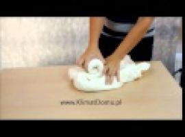Jak składać ręczniki - łabędź