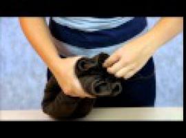 Jak składać ręczniki - postać pieska