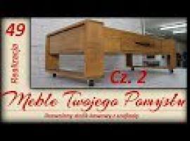 Jak zrobić drewniany stolik kawowy z szufladą #2