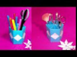 Jak zrobić organizer na biurko z papieru - origami
