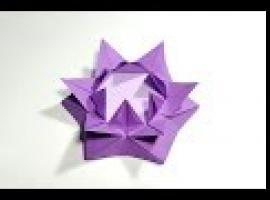 Jak złożyć podstawkę w kształcie kwiatu - origami