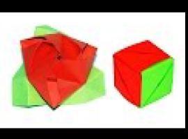 Jak zrobić kostkę origami z motywem róży