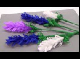 Jak zrobić kwiaty z papieru - lawenda