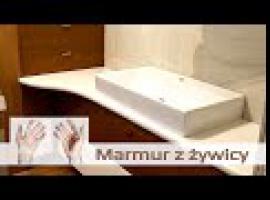 Jak zrobić blat łazienkowy z marmuru i żywicy