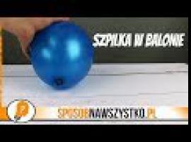 Jak przekłuć balon igłą żeby nie pękł
