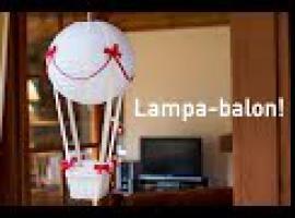 Jak zrobić lampę do pokoju dziecka - balon z koszyczkiem