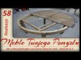 Jak zrobić rozsuwane i półokrągłe blaty do stołu - klejonki #1