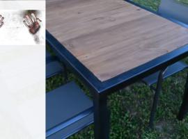 Jak zrobić stół do ogrodu z drewna i metalu