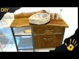 Jak zbudować szafkę łazienkową - połączenie stali i dębu