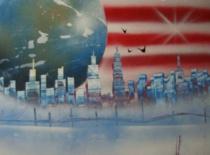 Jak namalować panoramę miasta za pomocą farb w spreju