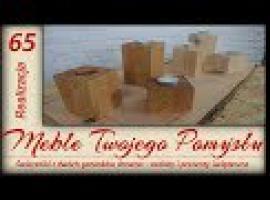 Jak zrobić świeczniki na prezenty z dwóch gatunków drewna