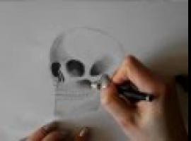 Jak narysować czaszkę i jak cieniować elementy na rysunku