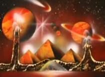 Jak namalować piramidy z planetami za pomocą farb w spreju