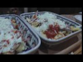 Jak zrobić mega obiadek - zapiekana świnka z frytkami