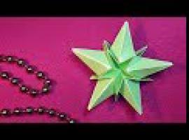 Jak zrobić papierową świąteczną gwiazdkę na choinkę